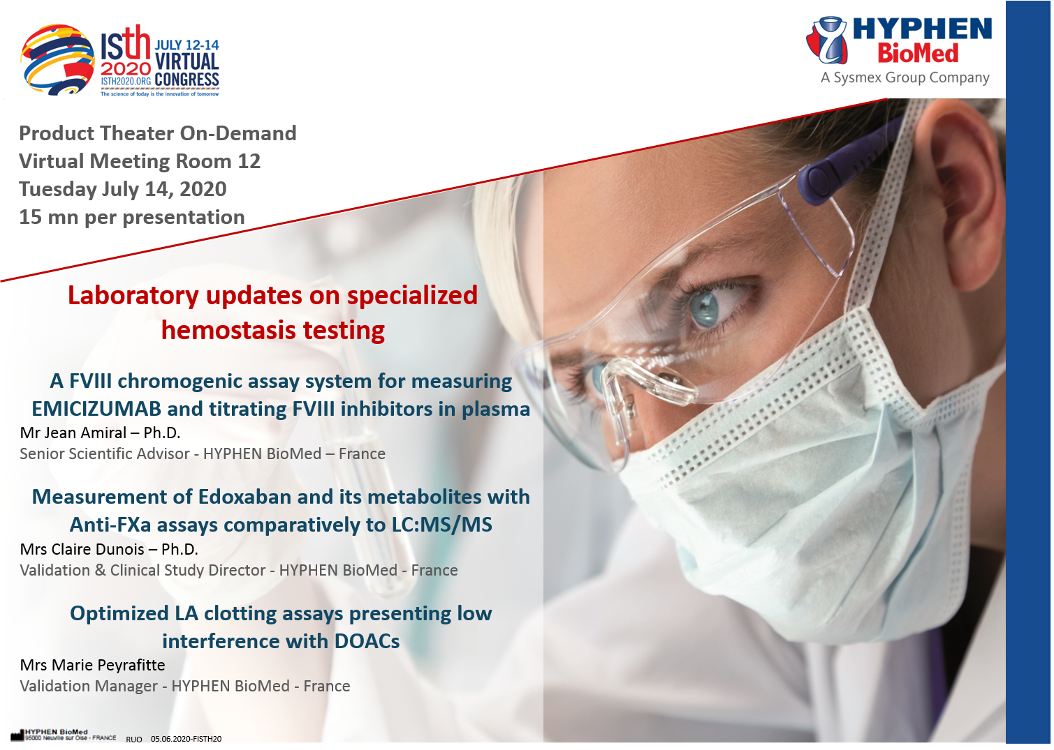laboratory updates on specialized hemostasis testing